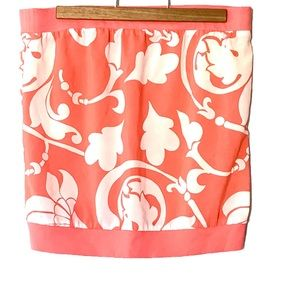 Peachy Coral Tube Top Sleeveless Blouse M